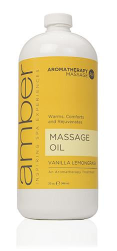 Massage Oil 32 oz. Vanilla Lemongrass