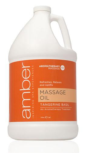 Massage Oil 128 oz. Tangerine Basil