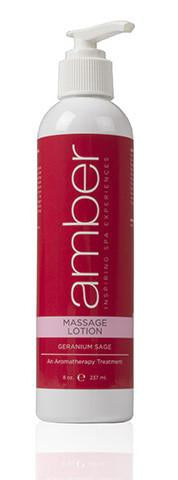 Massage Lotion 8 oz. Geranium Sage