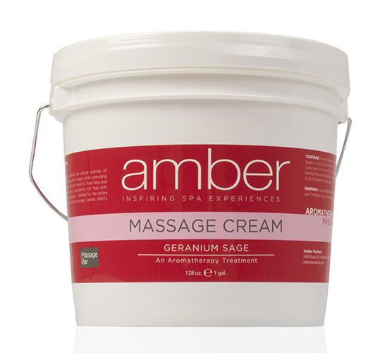 Massage Cream 128 oz. Geranium Sage