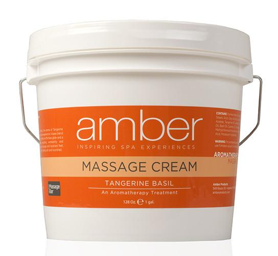 Massage Cream 128 oz. Tangerine Basil