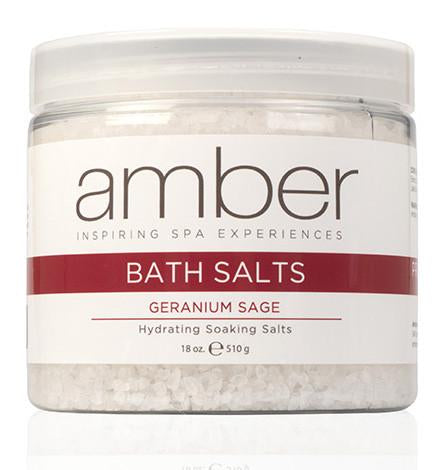 Bath Salts - 18 oz. Geranium Sage