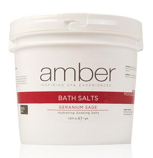 Bath Salts - 128 oz. Geranium Sage