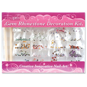 Gem Rhinestone Decoration Kit Nail Art