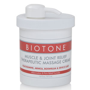 Biotone Muscle & Joint Relief Massage Creme 16oz