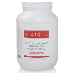 Biotone Muscle & Joint Relief Massage Creme 128 oz