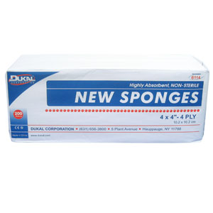 Dukal Hi-Absorbency Sponge 4 x 4 x 4 Ply 200 ct