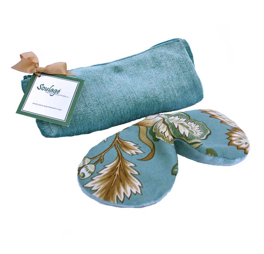 Soulage Floral/Seafoam Chenille Eye Relief Pillow