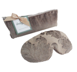 Soulage Argentine Taupe Chenille Eye Relief Pillow