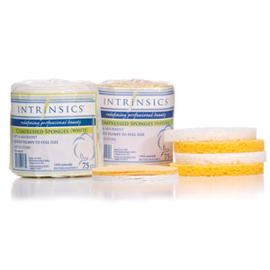 Intrinsics Compressed Sponge-white 75/pk