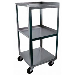 Square Stainless Utility Cart with 3 Shelves
