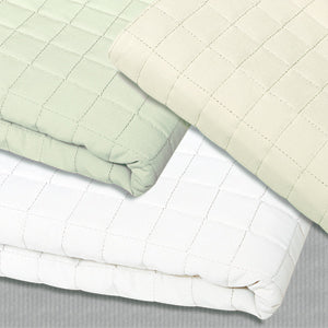 Simon West Cream Quilted Blanket