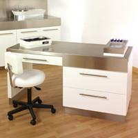 Stainless Steel 5ft. Manicure Desk
