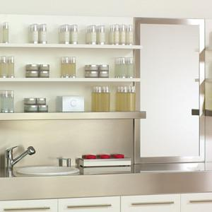Stainless Steel Floating Shelves Top W/Mirror 5ft.
