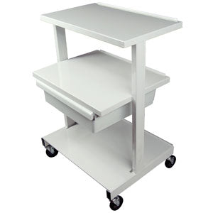Offset Shelf Equipment Cart