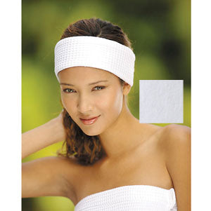 Boca Terry Velour Headband White