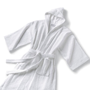 White Hooded Robe Terry