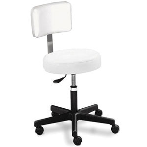 Round Air Lift Stool With Backrest (D)