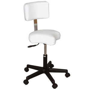 Contoured Air-lift Stool With Backrest