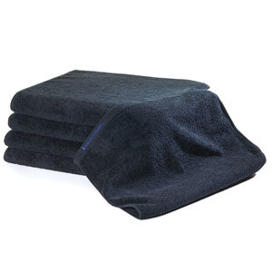 BluSand Black Bleachsafe Hand Towel/ 12 pack