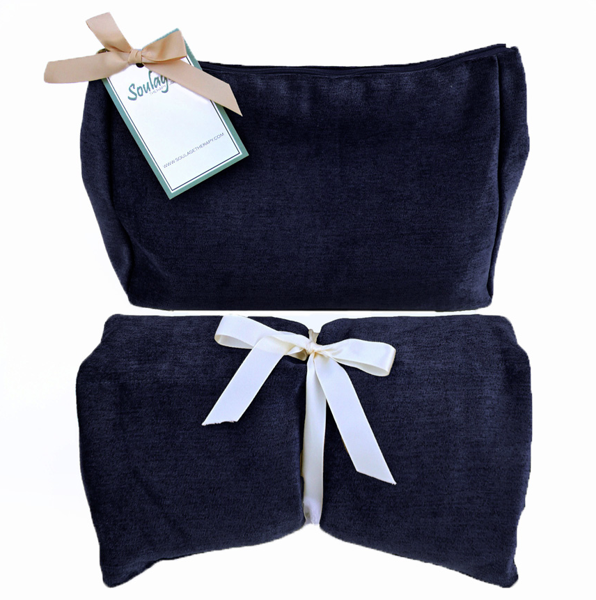Soulage Navy Chenille Body Wrap