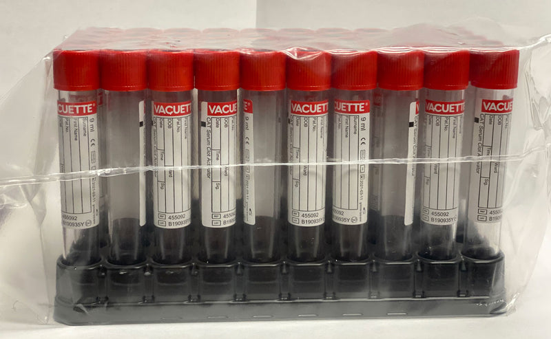 Red Cap Tubes - 50 Count