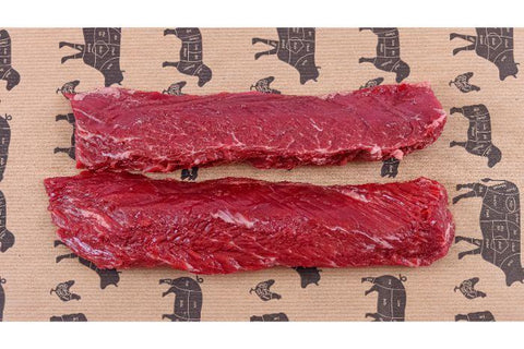 Yorkshire Lean Meat Hanger Steaks 2 x 254g (9oz) 32 Day Dry Aged Yorkshire Grass Fed Beef Hanger Steaks