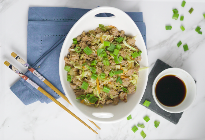 keto egg roll in a bowl meal recipe plan for ketogenic diet