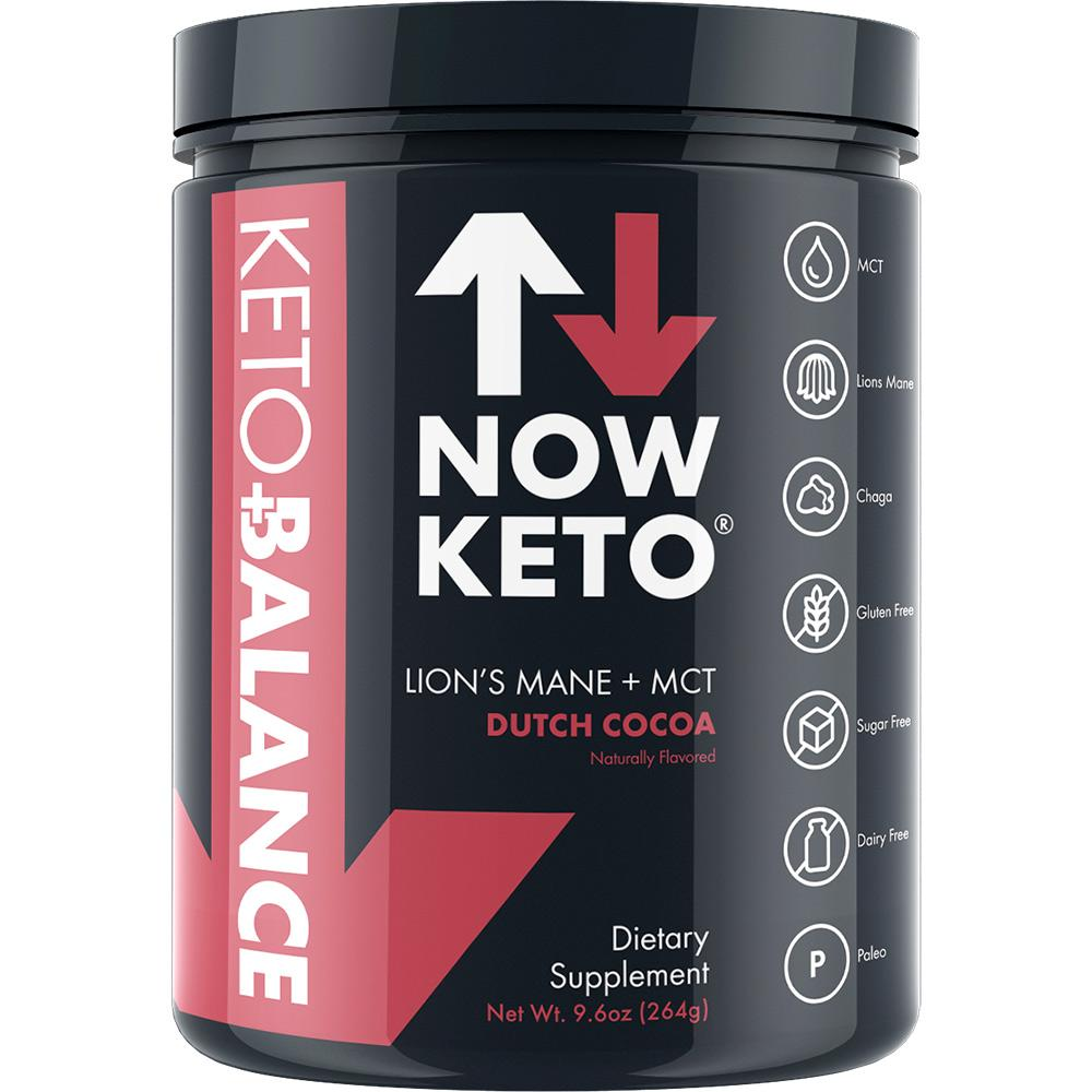 NOWKETO Keto  with Lion's Mane Mushroom, Chaga Mushroom, Rhodiola Root, C8 MCT Oil Powder  Sodium, Magnesium, Potassium, Sea Salt, and Dutch Cocoa  Amazing Keto Coffee 3