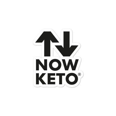 NOW KETO Bubble-free stickers