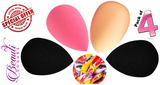 Soft Makeup Blender Sponge Puff Buds Set of 4, Flawless Coverage for Liquid Foundation, Concealer, Cream, Powder - Blending, Highlighting, Contouring - Flawless Coverage - Latex Free (4 Pcs)
