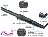 Curling Wand, 6 in 1 Curling Iron Wand and Curling Iron Set with 6 Interchangeable Tourmaline Ceramic Barrels for All Curls & Wave Hair Styling