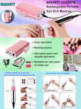 Makartt 30000RPM Rechargeable Nail Drill Machine Electric E File Acrylic Gel Nail Grinder Tool Bits Set USE0855