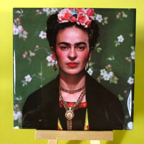 Frida Khalo Porcelain Tile Coaster