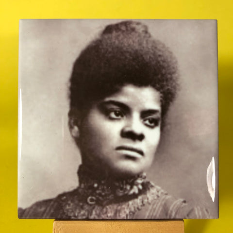 Ida B. Wells Porcelain Tile Coaster