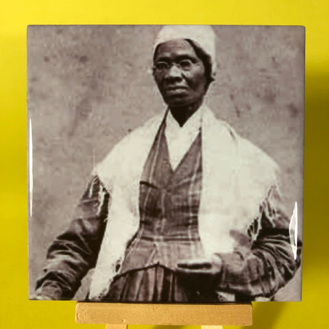 Sojourner Truth Porcelain Tile Coaster