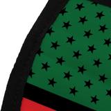Pan African American Flag Face Cover
