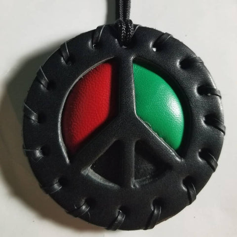 Peace Puffed Medallion