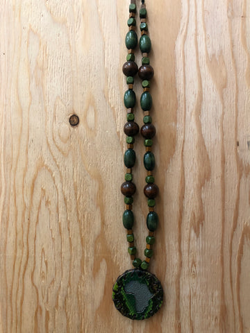 Small Green Snakeskin Medallion