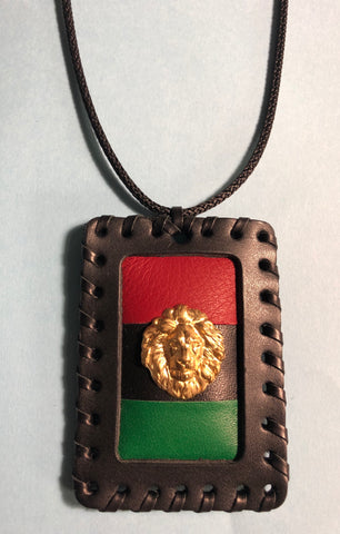 Pan African Medallion with Brass Lion