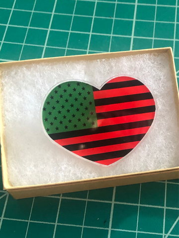 Pan African American Love Pin
