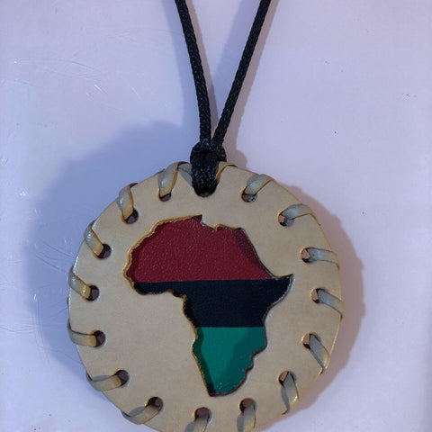 Small Natural Africa Medallion
