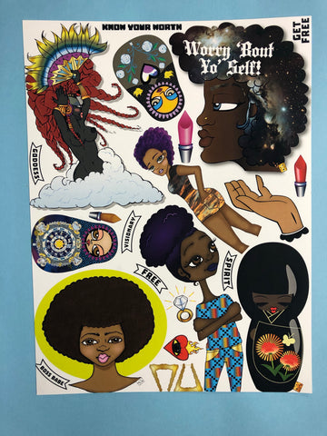 AfroPuff™ Dolls 1 Collection Clip Art Sheet