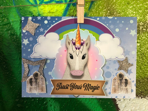 Trust Your Magic Embellished Greeting Card