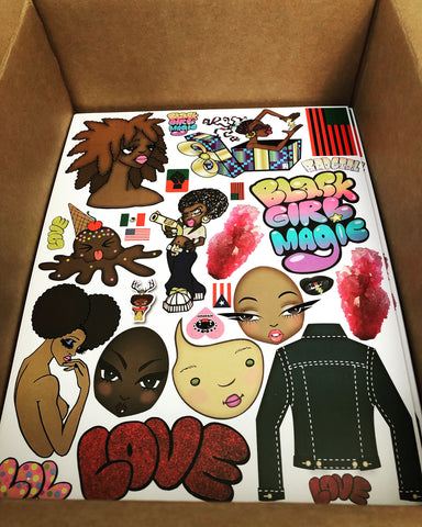 AfroPuff™ Dolls 2 Collection Clip Art Sheet