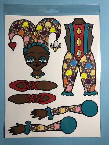 AfroPuff™ Harlequin Paper Doll Kit