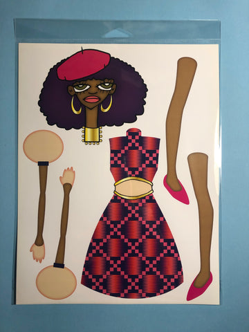AfroPuff™ Chelsea Paper Doll Kit