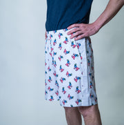Freedom Men's Athletic Shorts: All Over Print::White
