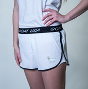 Women's Athletic Shorts::White