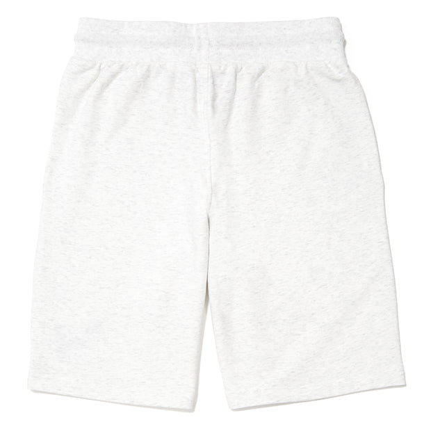 Men's Knitted Sweat Shorts::Heather White